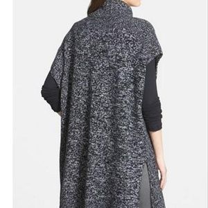 NORDSTROM Heavy Cashmere Turtleneck Poncho Sweater